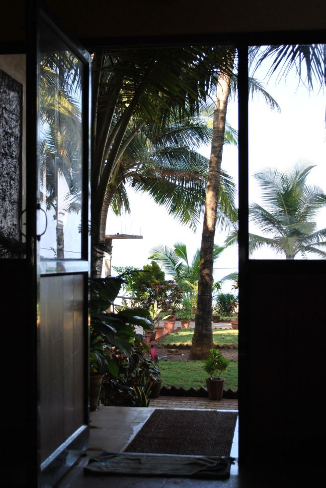 Opening out to the sea, Hotel Gokarna International.