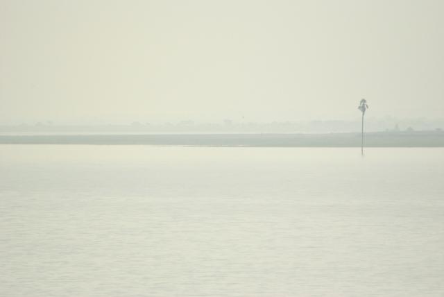 Karanji Reservoir on the way to Bidar. Sweltering, vast and still.