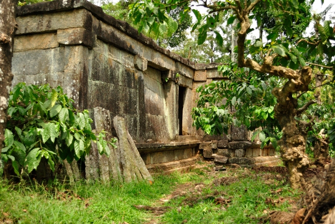 Ruins of a Jain Temple amidst coffee plantations in the middle of nowhere. We didn't venture in because it looked like the perfect location for a horror movie.