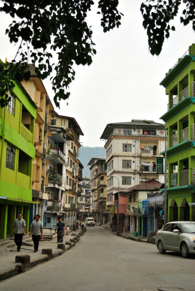 The streets of Phuent Sholing.