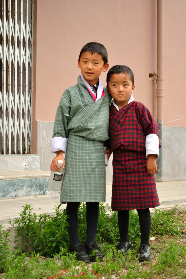 Kids in Ghos, worn as a school uniform in different colours and patterns.