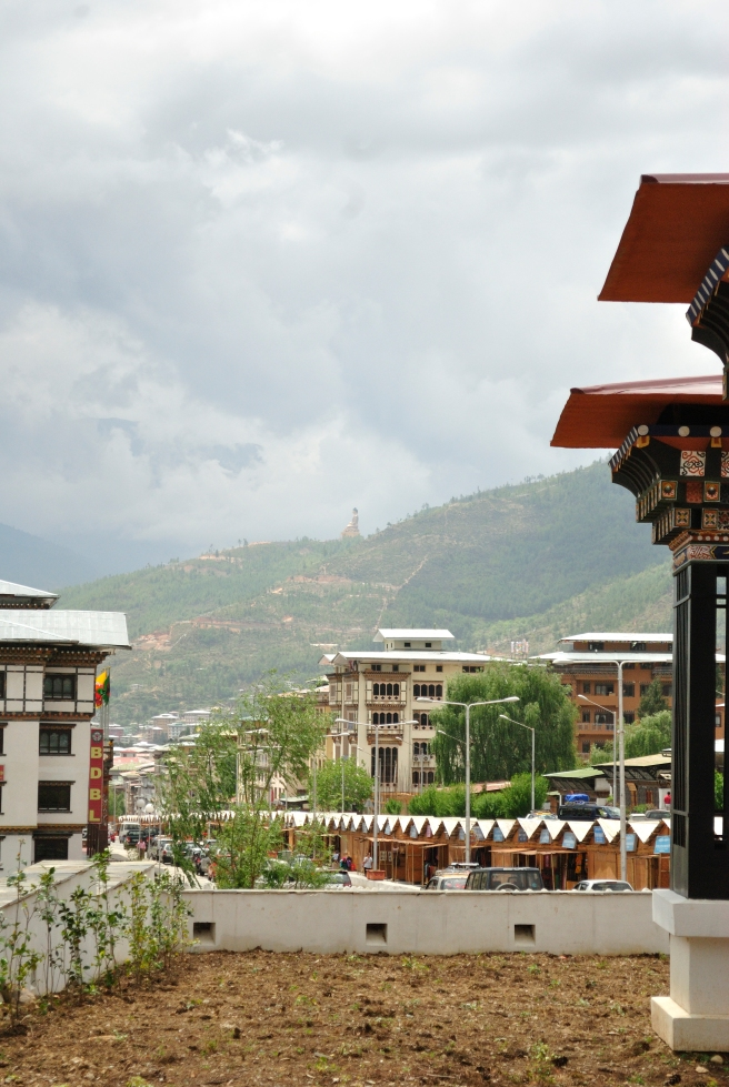 Thimpu, as seen from the steps of the textile museum.