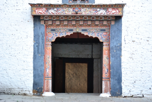 Inside the Trongsa monastery.
