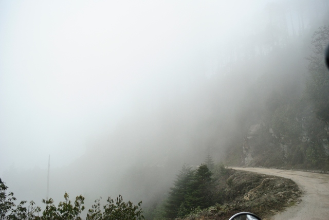 Riding into the clouds after the fall.