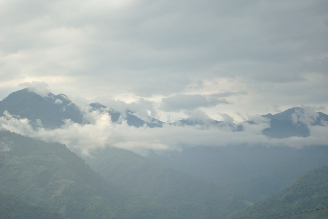 A last view of the mountains before we were to cross the border into India.