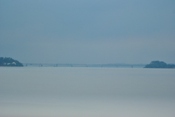 The Brahmaputra, minutes after it started raining.