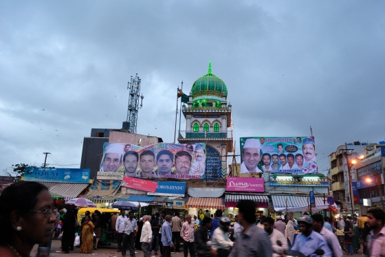The mosque opposite Russell Market which blared its siren when it was time for Iftaar.