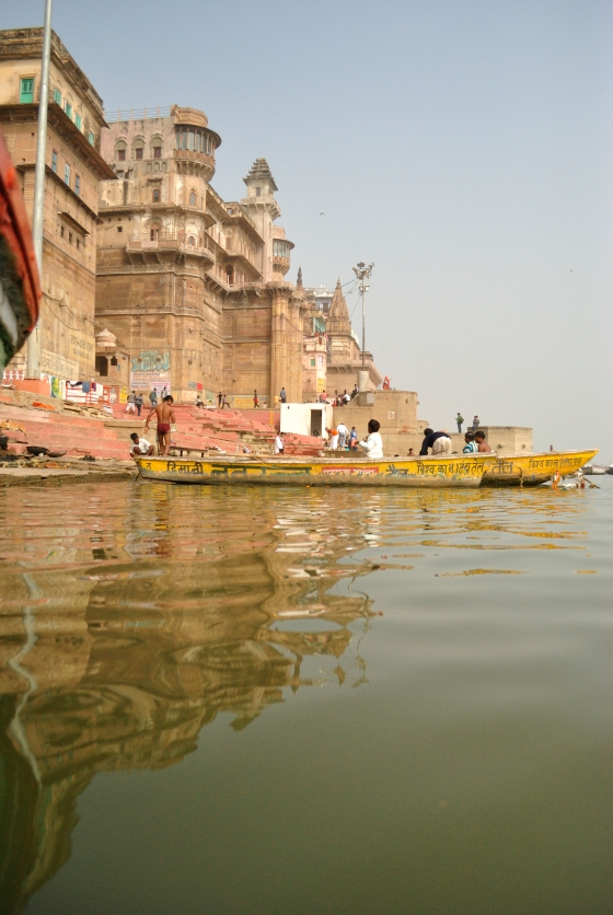 The boat ride on the Ganges.