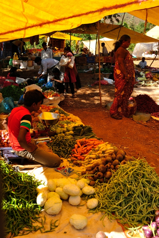 The local farmer's market in the compound of the jungle lodge we stayed at.