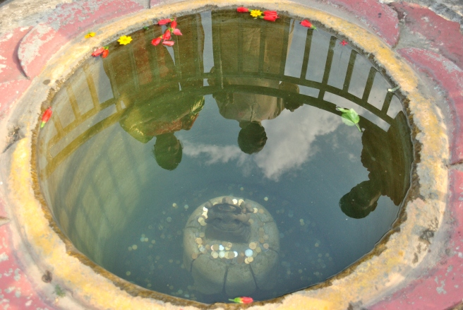 This wishing well is pretty rich - by Nepali standards at least. At Devi's Fall, Pokhara.