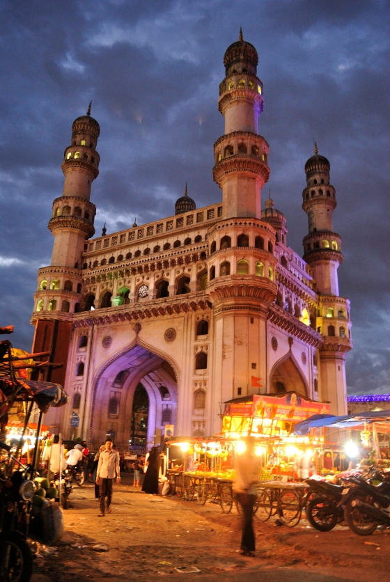 A view of Charminar from the gates of Osmania Hospital.