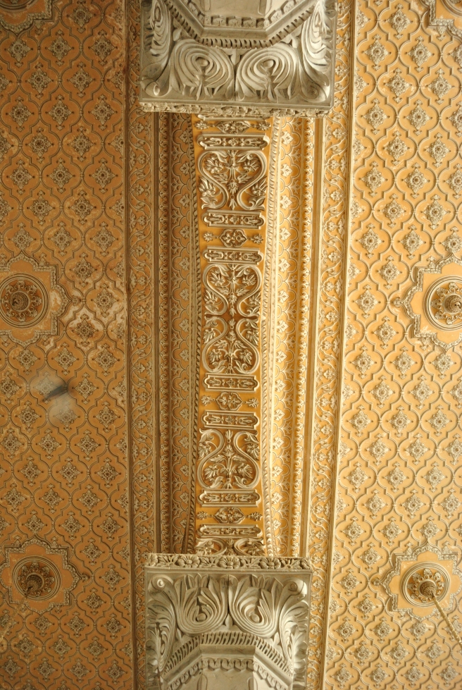 The ceiling of the main durbar area.